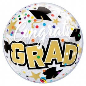 "ΜΠΑΛΟΝΙ FOIL 22""(56cm) CONGRATULATIONS GRAD Bubble – ΚΩΔ.:82523-BB"