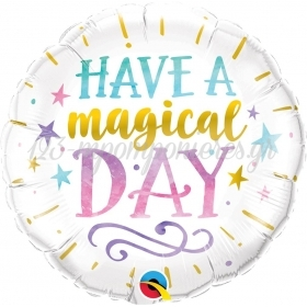 ΜΠΑΛΟΝΙ FOIL SUPER SHAPE 45cm «Have a Magical Day» – ΚΩΔ.:57262-BB