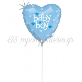 ΜΠΑΛΟΝΙ FOIL MINI SHAPE 9''(23cm) «Baby Boy» – ΚΩΔ.:82601-BB