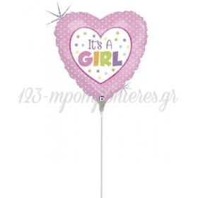 ΜΠΑΛΟΝΙ FOIL MINI SHAPE 9''(23cm) «It's A Girl» – ΚΩΔ.:82899-BB