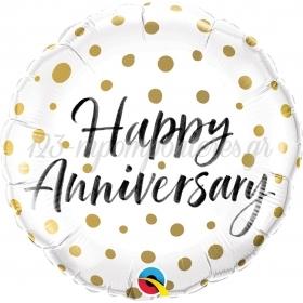 ΜΠΑΛΟΝΙ FOIL SUPER SHAPE 45cm «Happy Anniversary» – ΚΩΔ.:85847-BB
