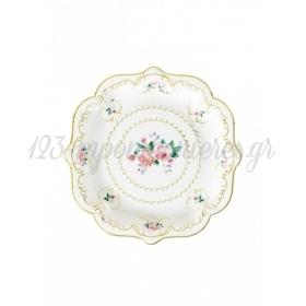 Χάρτινα Πιάτα φαγητού Floral Trully Chintz - ΚΩΔ:TSCHINTZ-PLATE-M-JP