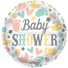 """ΜΠΑΛΟΝΙ FOIL 18""""(46cm) ΜΕ ΜΩΡΟΥΔΙΑΚΑ ΣΤΟΙΧΕΙΑ «BABY SHOWER» – ΚΩΔ:15852-BB"""
