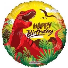 ΜΠΑΛΟΝΙ FOIL 45cm «Happy Birthday» ΔΕΙΝΟΣΑΥΡΟΣ – ΚΩΔ.:15045-BB