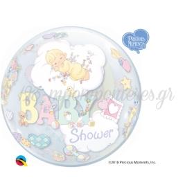 """ΜΠΑΛΟΝΙ FOIL 22""""(56cm) BABY SHOWER ΜΟΝΟ Bubble – ΚΩΔ.:27567-BB"""