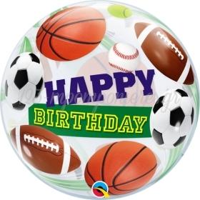 """ΜΠΑΛΟΝΙ FOIL 22""""(56cm) «Happy Birthday» ΜΠΑΛΑ ΠΟΔΟΦΣΦΑΙΡΟΥ Bubble ΜΟΝΟ – ΚΩΔ.:34821-BB"""