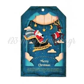 ΞΥΛΙΝΟ ΕΚΤΥΠΩΜΕΝΟ ΧΡΙΣΤΟΥΓΕΝΝΙΑΤΙΚΟ MERRY CHRISTMAS 5.5Χ8.5 ΕΚΑΤ. - ΚΩΔ:M3181-AD