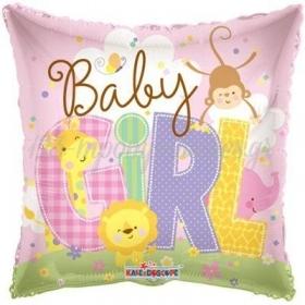 ΜΠΑΛΟΝΙ FOIL 45cm «Baby Girl» ΜΕ ΖΩΑΚΙΑ – ΚΩΔ.:19482-BB
