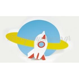 ΞΥΛΙΝΟ ΔΙΑΚΟΣΜΗΤΙΚΟ ΣΤΑΝΤ SPACE 20x13cm RS-190741 - ΚΩΔ:621264