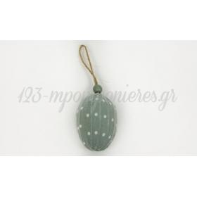 Αυγο Υφασματινο Πρασινο-Πουα Hie-18007A 5X7Cm - ΚΩΔ:531143