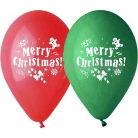 """ΤΥΠΩΜΕΝΑ ΜΠΑΛΟΝΙΑ LATEX «MERRY CHRISTMAS» 13"""" (33cm) – ΚΩΔ.:13613274-BB"""
