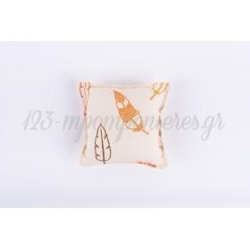 Μαξιλαρακι Με Υφασμα Τυπωμενο Πουπουλα - 10X10 Ek - ΚΩΔ:3710-801-Nt