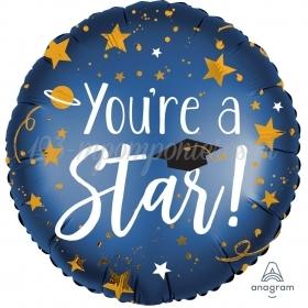 """ΜΠΑΛΟΝΙ FOIL 18"""" 45cm """"YOU ARE A STAR"""" ΑΠΟΦΟΙΤΗΣΗ – ΚΩΔ:539352-BB"""