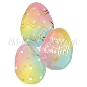 Μπαλονι Foil 35'' 88Cm Super Shape Αυγα Happy Easter Ομπρε – ΚΩΔ:540528-Bb