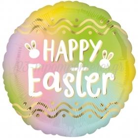 Μπαλονι Foil 18'' 46Cm Ομπρε Happy Easter – ΚΩΔ:540532-Bb