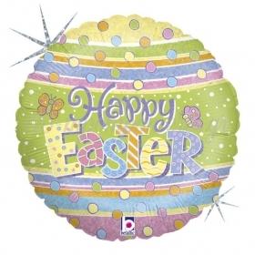 Μπαλονι Foil 18'' 46Cm Happy Easter Με Χρωματιστα Πουα – ΚΩΔ:86554-Bb