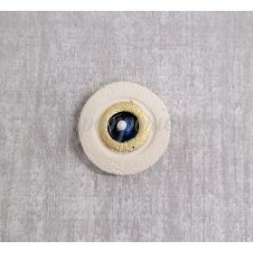 Κεραμικο Ματι Με Τρυπα - Μπλε Με Χρυσο - 4 Εκ - ΚΩΔ:700223-S-Tx