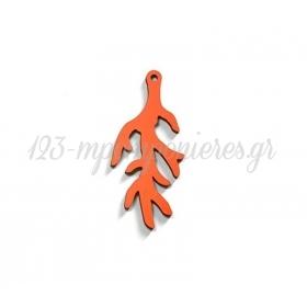 Ξύλινο Κοράλι 29x63mm - Πορτοκαλί - ΚΩΔ:76040735.056-NG