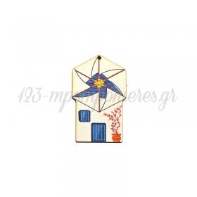 Ξύλινος Ανεμόμυλος 49x80mm - ΚΩΔ:76460360.002-NG