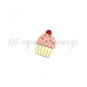 Ξύλινο Cupcake 54x41mm - ΚΩΔ:76040509.200-NG