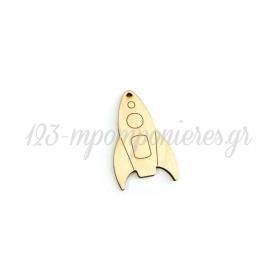 Ξύλινο Διαστημόπλοιο 64x39mm - ΚΩΔ:76040507.001-NG