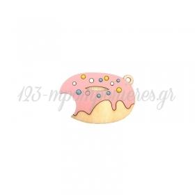 Ξύλινο Ντόνατ με Σμάλτο 50x33mm - ΚΩΔ:76040356.200-NG