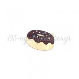 Ξύλινο Ντόνατ με Σμάλτο 50x34mm - ΚΩΔ:76040355.200-NG