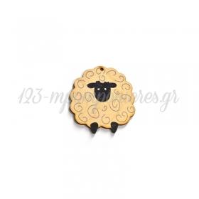 Ξύλινο Πρόβατο 61x63mm - ΚΩΔ:76460230.001-NG