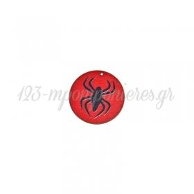 Ξύλινο Μοτίφ Στρογγυλό Αράχνη 50mm - ΚΩΔ:76460232.006-NG