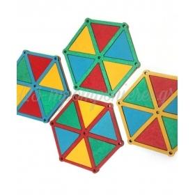 Ξύλινο Χαρταετός 4 Χρώματα 69x59mm - ΚΩΔ:76040167.200-NG