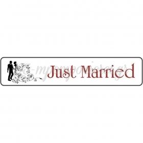 ΠΙΝΑΚΙΔΑ ΑΥΤΟΚΙΝΗΤΟΥ ΓΑΜΟΥ ΖΕΥΓΑΡΙ JUST MARRIED - ΚΩΔ:553131-1-BB