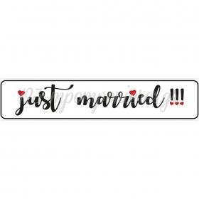 ΠΙΝΑΚΙΔΑ ΑΥΤΟΚΙΝΗΤΟΥ ΓΑΜΟΥ JUST MARRIED - ΚΩΔ:553131-14-BB