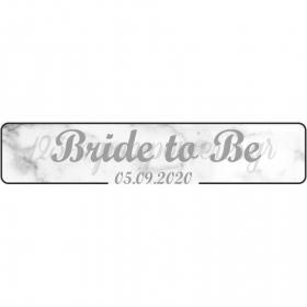 """ΠΙΝΑΚΙΔΑ ΑΥΤΟΚΙΝΗΤΟΥ BACHELOR """"BRIDE TO BE"""" - ΚΩΔ:553131-16-BB"""