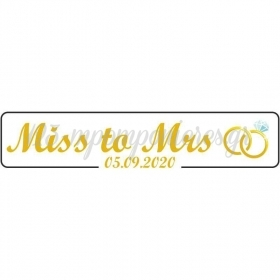 """ΠΙΝΑΚΙΔΑ ΑΥΤΟΚΙΝΗΤΟΥ BACHELOR """"MISS TO MRS"""" - ΚΩΔ:553131-17-BB"""