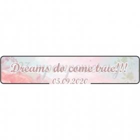 """ΠΙΝΑΚΙΔΑ ΑΥΤΟΚΙΝΗΤΟΥ ΓΑΜΟΥ """"DREAMS DO COME TRUE"""" - ΚΩΔ:553131-19-BB"""