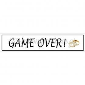 ΠΙΝΑΚΙΔΑ ΑΥΤΟΚΙΝΗΤΟΥ ΓΑΜΟΥ GAME OVER - ΚΩΔ:553131-3-BB