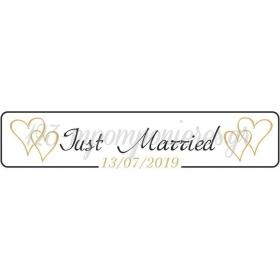 ΠΙΝΑΚΙΔΑ ΑΥΤΟΚΙΝΗΤΟΥ ΓΑΜΟΥ JUST MARRIED ΚΑΡΔΙΕΣ - ΚΩΔ:553131-5-BB