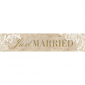 ΠΙΝΑΚΙΔΑ ΑΥΤΟΚΙΝΗΤΟΥ ΓΑΜΟΥ JUST MARRIED VINTAGE - ΚΩΔ:553131-7-BB