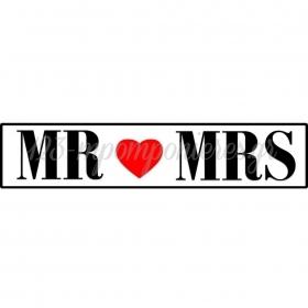 ΠΙΝΑΚΙΔΑ ΑΥΤΟΚΙΝΗΤΟΥ ΓΑΜΟΥ MR & MRS - ΚΩΔ:553131-8-BB