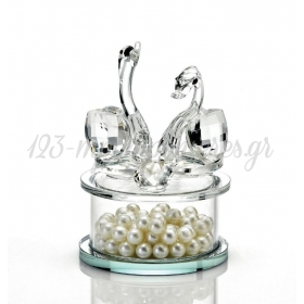 Κρυσταλλινη Φοντανιερα Με Κυκνους - ΚΩΔ:202-7604-Mpu