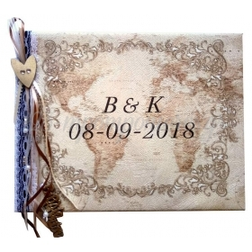 ΒΙΒΛΙΟ ΕΥΧΩΝ ΓΑΜΟΥ ΣΑΓΡΕ VINTAGE ΧΑΡΤΗΣ - ΚΩΔ:860DBCL30B-2-BB