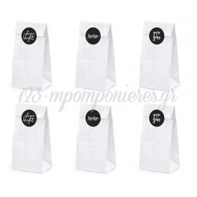 """Χαρτινες Λευκες Σακουλιτσες Με Αυτοκολλητο """"Shinebright"""" - ΚΩΔ:Tns5-008-Bb"""