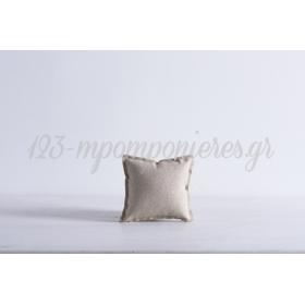 Μαξιλαρακι Με Ιδιαιτερο Υφασμα Lurex - Μπεζ - Χρυσο - 10X10 - ΚΩΔ:371114-Nt
