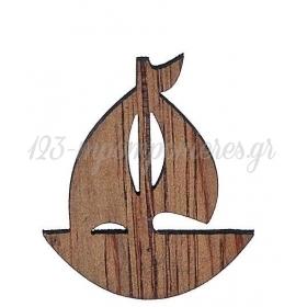 ΞΥΛΙΝΟ ΣΚΟΥΡΟΧΡΩΜΟ ΚΑΡΑΒΑΚΙ 2.7X3CM - ΚΩΔ:M1436-AD