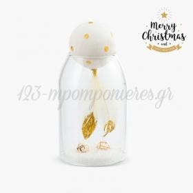 Χριστουγεννιάτικο Γυάλινο Διακοσμητικό Με Φτερά - ΚΩΔ:19233-PR