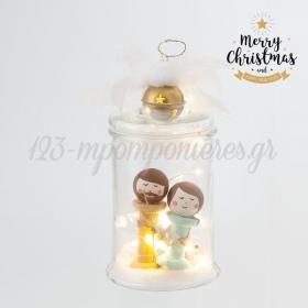 Χριστουγεννιάτικο Βάζο Με Φωτάκια Led - ΚΩΔ:19235-PR