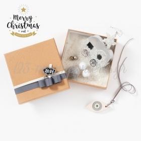 Χριστουγεννιάτικο Φυσικό Σετ Δώρου Τροχόσπιτο - ΚΩΔ:19236-PR