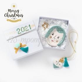 Χριστουγεννιάτικο Σετ Δώρου Λευκό - ΚΩΔ:19238-PR