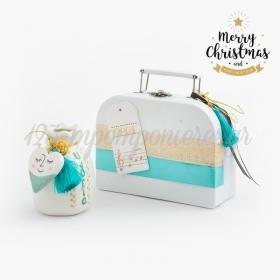 Χριστουγεννιάτικο Σετ Δώρου Λευκό Βαλιτσάκι - ΚΩΔ:19250-PR