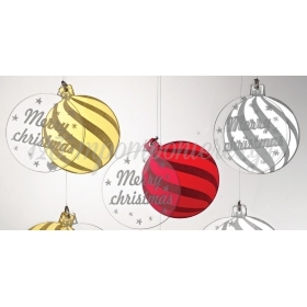 "PLEXIGLASS ΔΙΠΛΗ ΜΠΑΛΑ ""MERRY CHRISTMAS"" 5Χ6CM - ΚΩΔ:M4529-AD"